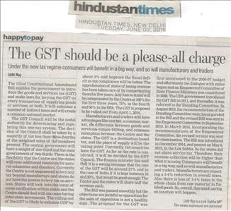 The GST should be a please-all charge
