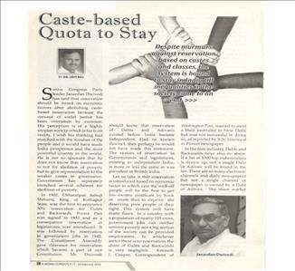 Caste-based Quota to Say