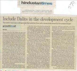 Include Dalits in the development cycle